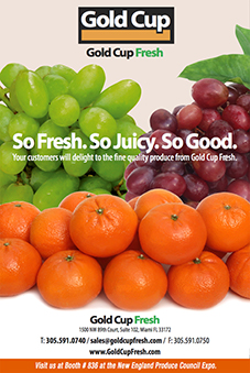 Mandarines, Green grapes, Red grapes ad